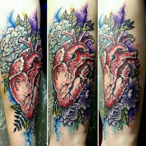 #watercolortattoo #girlytattoo @alaskatattoos @AndrewTatCarlson #tattoodo