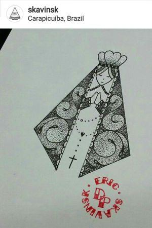 Santa em pontilhismo exclusiva esperando aprovação uma pele. #ericskavinsktattoo #dotworktattoo #pontilhismotattoo #ourlady #nossasenhoradasgraças #blackwork #namps #electricink #tattoodobr #tattoodoapp #artfusion #tattoodo #tattooguest #tguest #drawing2me #tattoo2me #pontos #tatuagem #ink #inked #tattoo #follow4follow #like4like #electrickinkbr #inked #tattoo