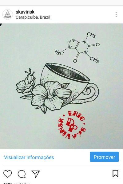 Boa tarde fãs de cafeína, desenho exclusivo disponível para ser tatuado. Agendamentos pelo ☎(11)993776985 #ericskavinsktattoo #coffee #cafe #cafeina #cafein #quimica #flowertattoo #hibiscus #hibisco #tattooflor #molecula #cuptea #teacup #dotworktattoo #pontilhismotattoo #artfusion #electricinkbr #electrickink #tattoodobr #tattoodoapp #tattoodo #follow4follow #like4like #tattoo #inked #ink #tatuagem #whipshaded #whipshade