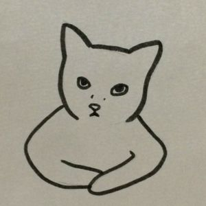 drawn by the poorly drawn cats twitter. i want this as a tat so freaking bad