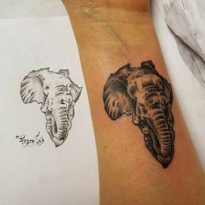 #elephants #elephanttattoo #Africa #Black
