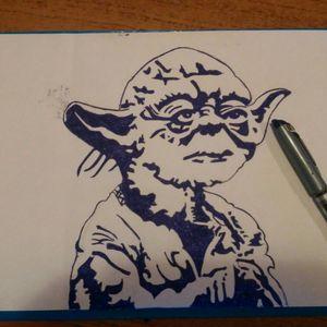 #draw #starwars #popart #love #draw #Yoda