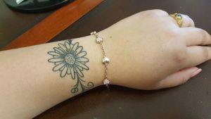 Second tattoo. More to come :) #bracelettattoo #daisytattoo