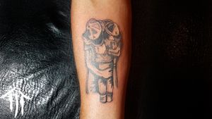 Algo realizado el día de ayer !! ✏️🐅 (Padre e hijo) #ink #inked #tattooart #tattooartist #fhaterandsontattoo #shader