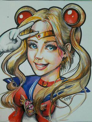 An availabable design of a Sailor Moon I did #sailormoon #flashart #flash