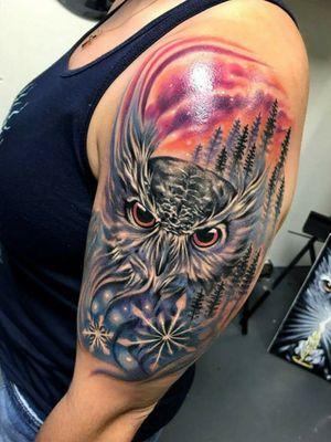 Owl life.#original #owltattoos #owltattoo #owls #owltattoodesign #owlpiece #tatter #albuquerque #newmexicoartist #artist