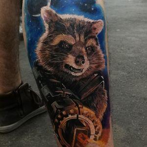#tattoooftheday #rocket #galaxy #guardiansofthegalaxy #guardianesdelagalaxia
