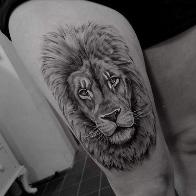 The Lion King #lion #liontattoo #tattoolion #bng #blackandgrey #realistictattoos #tattoos #tattoodo #tattoo #ink #inked