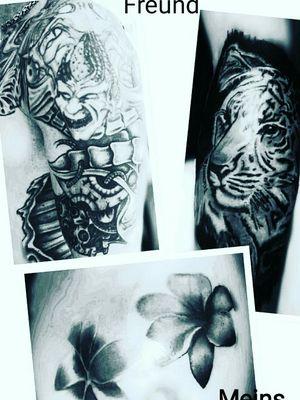 #blackandgrey #tiger #blumen #floral #realistisch #lilien #biomechanik #blackwork #inked #tattooedwoman #tattooedgirl #tattooed #tattoist# #hellotattoomed #cheyenecartridge #bullet #intenzpride #intenzink #cheyeneEquipment #dotwork# #kunst