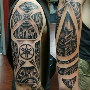 #biomechanicaltattoo #biomech #tattoooftheday