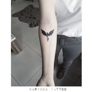 Phoenix Instagram: @karincatattoo  #phoenix #arm #small #minimal #little #tiny #girls #tattoo #tattoos #tattoodesign #tattooartist #tattooer #tattoostudio #tattoolove #tattooart #istanbul #turkey #dövme #dövmeci #design #girl