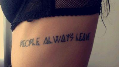 #peoplealwaysleave #love #people #lines #Black #geometry