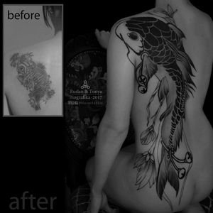 Biografika Abusev Tattoo www.abusevtattoo.com #Black #blackwork #graphic #coverup #CoverUpTattoos #coveruptattoo