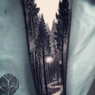 #blackandgreytattoo #naturetattoo #trees