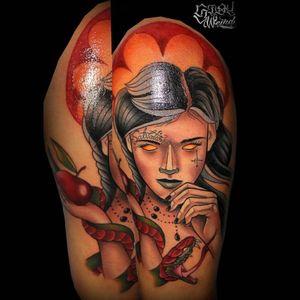 #tattoocollector #EvilEve #neotraditionaltattoos