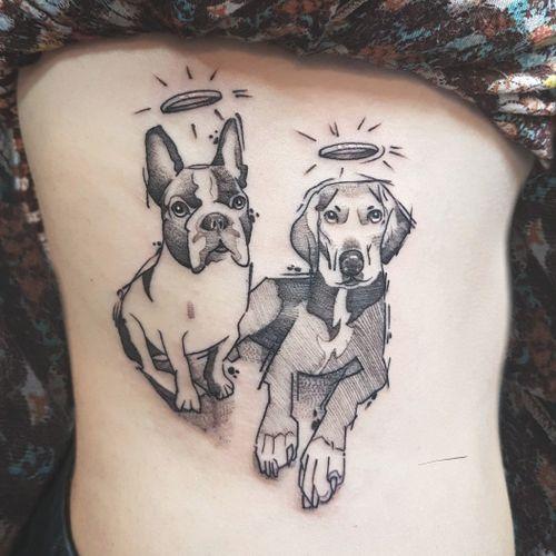 . . .Em memória de Quênia e Valentina. . . #dog #tattoo #cachorro #tatouage #tatuagem #kikotattoorio #felipemellotattoo #riodejaneiro