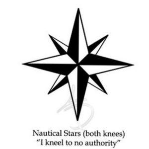 Russian Prison Tattoos, Nautical Stars #nauticalstars #RussianPrisonTattoo