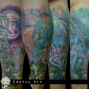 #pandora #avatar #tattoosleeve #movietattoo #forest #surrealist #maya #mexico #fullcolor #neotraditional