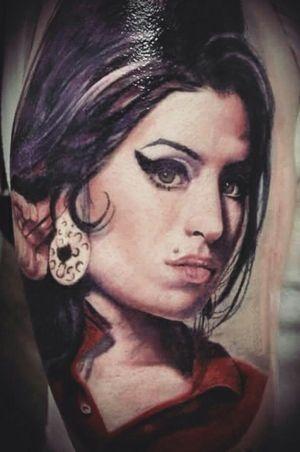 My tattoo.  Artist: Fabio Torti S.O.F.T. TATTOO . . #tattoo #tatoooftheday #amywinehouse #qualitytattoo #musictattoo