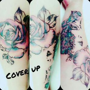 #floral #gesicht #face #blumen #rose #bunt #coverup #tattoo #tattoos #tattooedgirl #tattooartist #tattooedwoman #me #blackgrey#artist #beautifulink #germantattooers #dreamtattoo #mindblowing #hellotattoomed #suprasorb