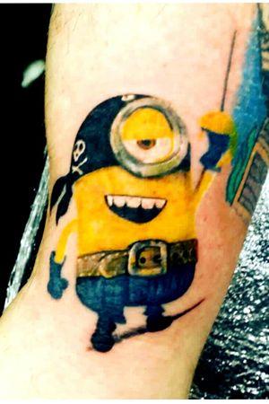 Minion #tattoo #tattoos #tattoostudio #ink #inked #inkedup #art #bodyart #artist #killerink #liverpool #love #beauty #beautiful #fun #angel #liverpooltattoo #electrumstencilprimer #silverbackink #elgatonegro #followforfollow #follow4follow #likeforlike #devilscovetattoostudio #jay #jaywoodwardtattoos #share #repost