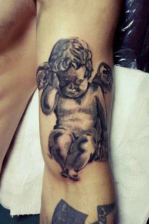 #mywork #tattoo #artist #tattooartist #art #Bishoprotary #eternalink #ilovetattoo #sonami #sonamiaoi #thankful #nice #angel #angeltattoo
