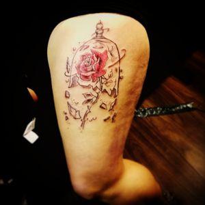 #beautyandthebeastrose #beautyandthebeast #rosetattoo #roses #brokenglass #tattoolife #tattoos #tattooartist#bristol #tattoolife #tattoos#tattooartist #bristol#bristolartist
