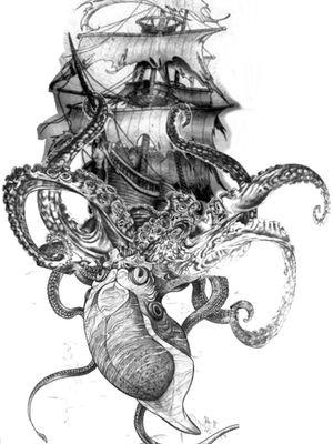 Kraken tattoo - bucket list 😍