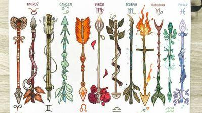 Zodiac Arrows made by the amazing artist Gabriel Picolo