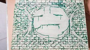 Triple Goddess mossy wall #triplegoddesstattoo #mossy #wall #mossywall #pagan #paganpride #pagantattoo
