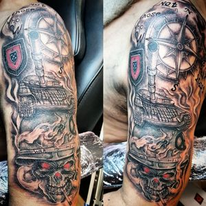Half sleeve army tattoo  My work