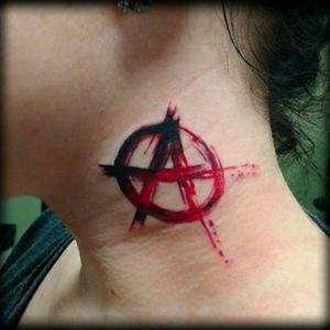 #anarchy #punk #trashpolkatattoo #trashpolka #redandblack