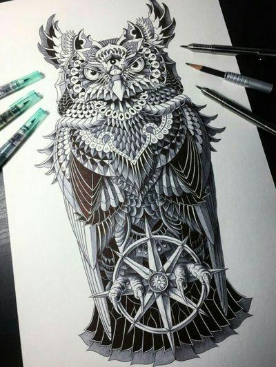 #blackandgreytattoo #blackandgrey #owltattoo #owl