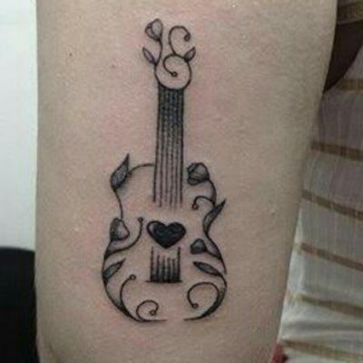 #guitar #guitartattoo #music #musictattoo