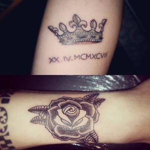 #tattoo #ink #tattoomilano #tattoopavia #script #rose #oldschooltattoo #crown #crowntattoo #blackwork #blacktattoo #rosetattoo #18 #saturday #working #afternoon #tattooidea #tattooapprentice #tatuatoriitaliani #picoftheday #instaday #instapic #instaphoto #igers #igersitalia #igersmilano #lovemyjob #tattooart