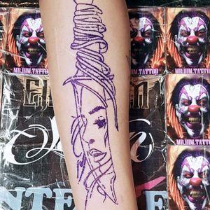 Stencil tattoo
