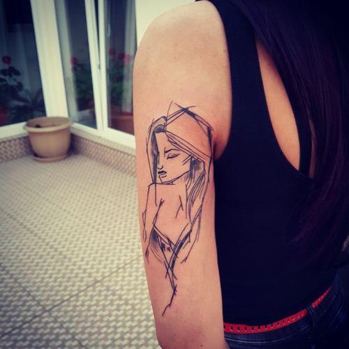 #sketchtattoo #sketchstyle #womantattoo
