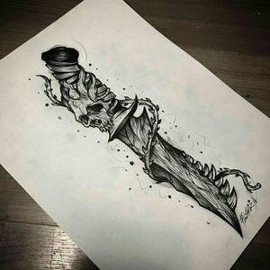 Death through a dagger