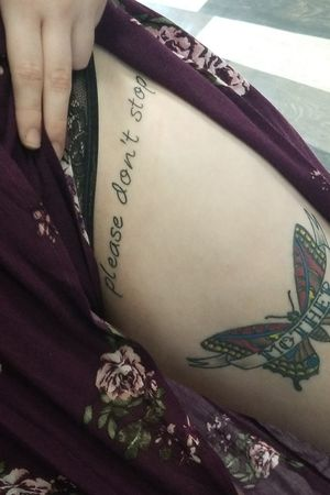 Please Don't Stop #leg #please #pleasedontstop #letters #lettering #sexy #tattoo