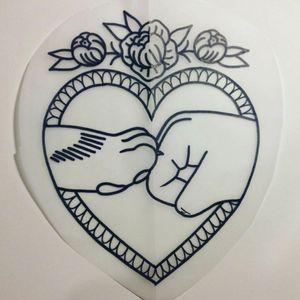 #dogtattoo #hand #paw #love #heart #tattodoo #forlife