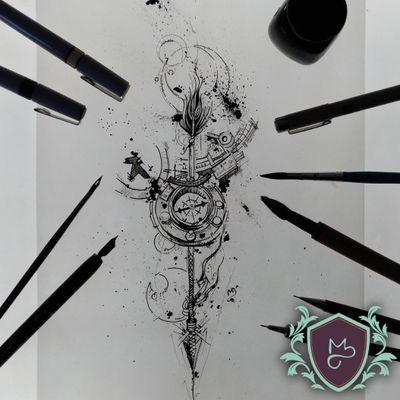 Arrow and Compass - em Black Fucking Work. 😈😈😈 . . .. Quer uma arte pensada pra ti? Arte autoral JÁ RISCADA NA PELE do @guedes.bru, hehehe. . . . . . ***Todos por um mundo mais colorido com qualidade.*** .. .. ... #AndreMeloTattooArtist #MelosTattooInk #tatuagem #tattoo #tattoing #tattooart #tattooer #tattooist #tatuadoresbrasileiros #tatuagembrasil #art #drawing #tattoomachine #rotarymachinetattoo #vilaclementino #vilamariana #ibirapuera #black #blackworkers #blackwork #blackworktatoo #dotwork #sketch #sketchtattoo #sketchwork #arrow #compass #flechas #flecha