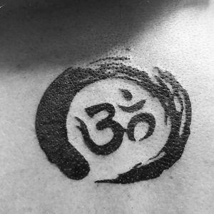 #om #fullblack #yogatattoos #backpiece