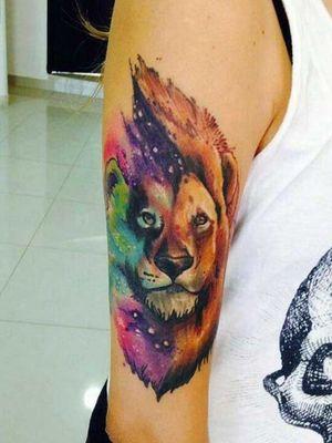 #lion #aquarela