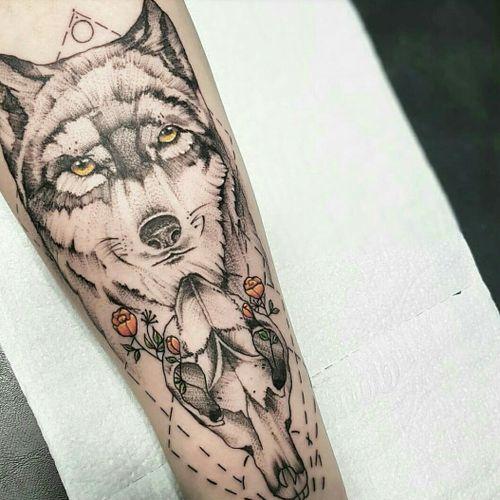 #wolftattoo #wolf #wolfhead #inmemoriam #lobo #brasiltattoo #campogrande #DharmaTattoo
