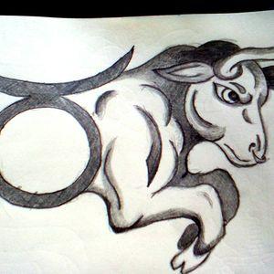 Quick zodiac design sketch #1 of 12 #zodiacsign #zodiac  #Taurus  #sketch #design #tattoo #bull #2b
