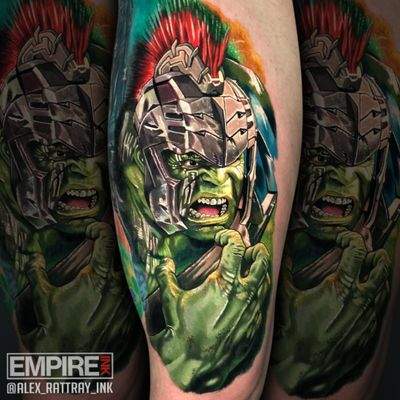 I did this 2 day Gladiator #Hulk piece from #ThorRagnarok on Friday and Saturday of last week. If you're looking for a big, beautiful 2 day tattoo, I offer a discount on his usual day rate. #tattoo #tattoos #mcu #avengersinfinitywar #edinburgh #edinburghtattoo #ink #tattooartist #instatattoo #tattooart #tattoosofinstagram #inkedup #tattoolife #realism #tattoomagazine #tattooartwork #tattooaddicts #tattoolove #realistictattoo #topclasstattooing #amazingink #eternalink #stencilstuff #barberdts #inkjecta