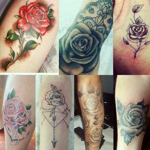 Tatuagens de belas rosas! #rose #rosetattoo #redrose #redrosetattoo #blackrosetattoo #blackrose #darkrose #darkrosetattoo