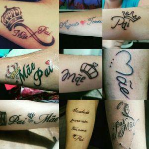 Tatuagens de homenagem a pai e mãe  #monanddad #motherandfather