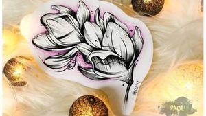 #magnoliatattoo #flash #flower #sketch #drawing #art #watercolortattoo #magnolia #lovely