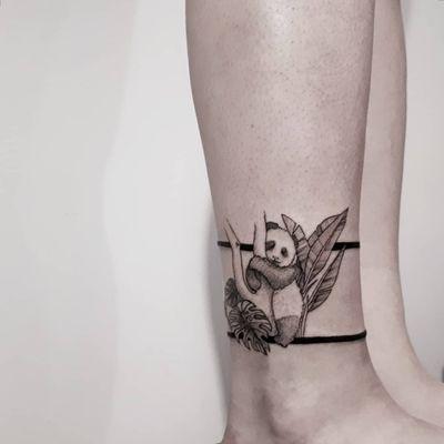 #tattoo #tattooua #linework #dotwork #ink #inktattoo #panda #pandatattoo #artsoroka #lublubart #artwork #Tattoodo #TattoodoApp